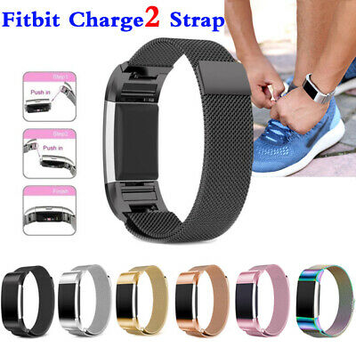 AU7.99 • Buy For Fitbit Charge 2 Band Metal Stainless Steel Milanese Loop Wristband Strap OZ