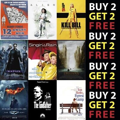£6.16 • Buy Greatest Movie Posters Top 100 Classic Vintage Posters On Metal Plaque A3 A4