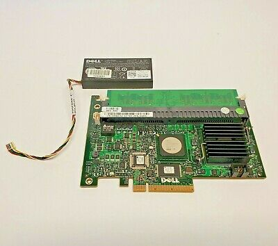 $29.99 • Buy Dell 0WX072 Perc 5i SAS Controller 1950 2950 256MB With Battery 0NU209