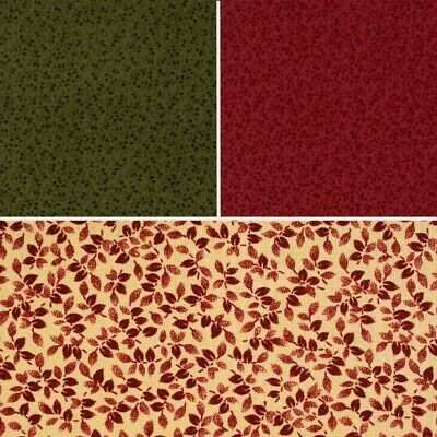 Moda Gooseberry Lane Leaves Cotton Quilting Fabric  • 2.99£