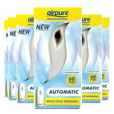 £9.99 • Buy Airpure Automatic Air Freshener Unit Machine Home Scent 1,2,3,4,5,6 Pack