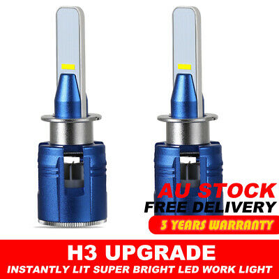 AU24.99 • Buy 2x H3 LED Lamp 60W Headlight Kit Bulb Globes FOG LIGHT DRIVING BULBS CAR LAMP
