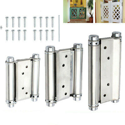 2X 3''/4''/6  DOUBLE ACTION Spring Hinge Saloon Swing Door Kitchen Gate+Screws • 12.95£