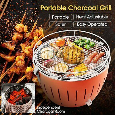AU69.23 • Buy Portable Charcoal Grill Smokeless Stainless Steel Barbecue Camping Roaster&BBQ