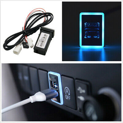 $ CDN17.60 • Buy QC3.0 2 USB Smart Phone PAD Quick Charger Adapter Plug & Play Cable For Toyota