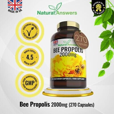 Bee Propolis 2000mg 270 Pills Pure Bee Health Pollen Healthy Immune System Raw • 29.99£