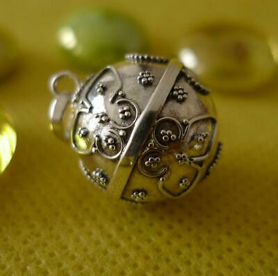 Mexican Bola Sterling Silver Harmony Ball Pendant SilverandSoul Jewellery 16mm • 19£