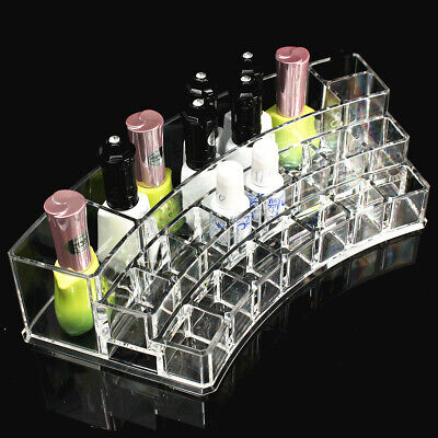 Clear Acrylic Nail Polish Tiers Cosmetic Varnish Display Stand Rack Organizer  • 7.17£