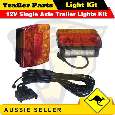 AU61.99 • Buy 2 X 18 LED Single Axle TRAILER LIGHTS KIT WIRE Kit, Plug & Play, Water Proof 12V
