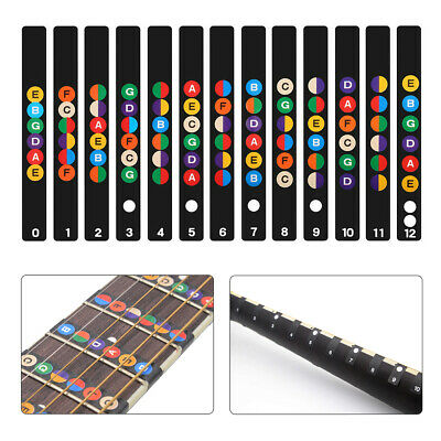 £5.99 • Buy Guitar Fretboard Stickers Note Inlay Decal Sticker Music Scale Map For Practice