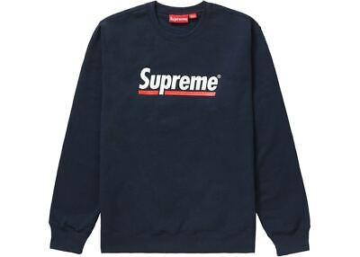 $ CDN300 • Buy SUPREME Underline Crewneck Navy M Box Logo Camp Cap S/S 20