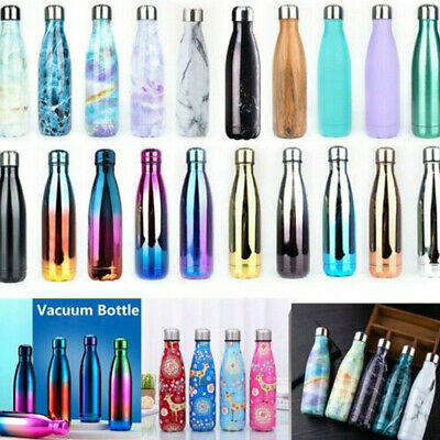 AU21.29 • Buy Stainless Steel Water Bottle Vacuum Insulated Outdoor Camping Flask Double Wall