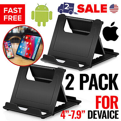 $8.99 • Buy Cell Phone Stand Holder Mobile Smartphone For Desk Tablet IPad Multi-Angle