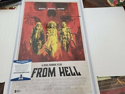 AU155.74 • Buy RICHARD BRAKE & BILL MOSELEY SIGNED 11x14 PHOTO A ROM ZOMBIE  3 FROM HELL