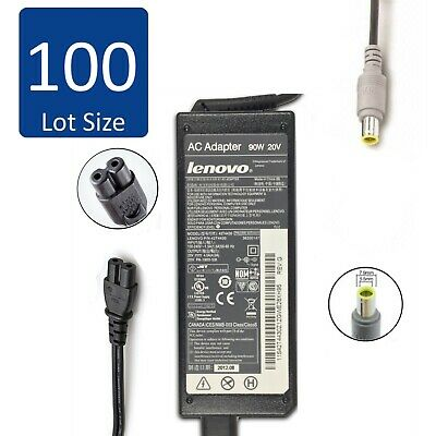 $ CDN1269.20 • Buy Lot Of 100 Genuine Lenovo ThinkPad Laptop AC Charger Adapter 90W 20V 4.5A ROUND