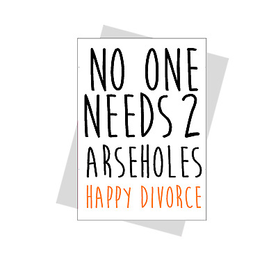£2.99 • Buy Funny Divorce Card Rude Humour Banter Divorce Party Friend Sister Cheeky Happy