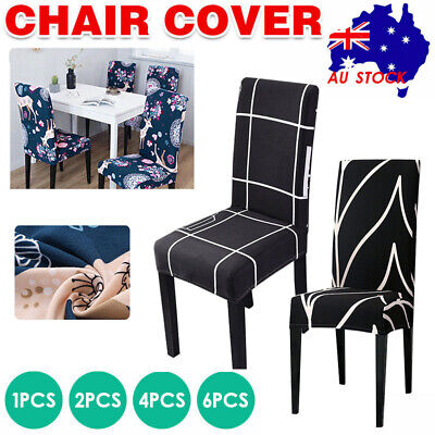 AU6.98 • Buy Stretch Chair Covers Spandex Seat Cover Removable Dining Banquet Party Slipcover