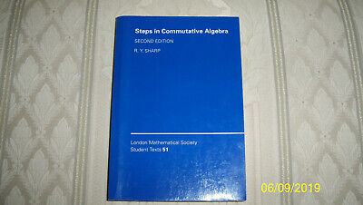 $29.95 • Buy Steps In Commutative Algebra By Sharp, R. Y. - Not X-library - MAKE OFFER!
