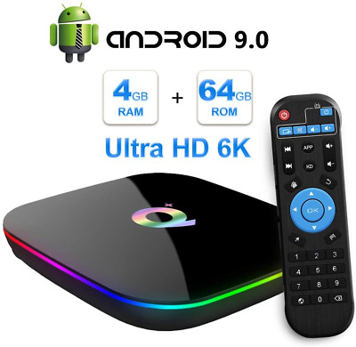 $ CDN86.74 • Buy TUREWELL Android 9.0 TV Box, Q Plus Android TV Box Quad Core H6 4GB RAM 64GB ROM