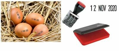 £20.99 • Buy Egg Dater Kit - Includes 1 X 4mm  Rubber Date Stamp And 1 X Inked Egg Pad RED
