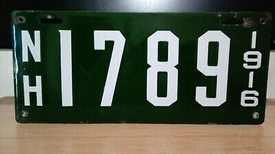 $ CDN133.33 • Buy 1916  New Hampshire  PORCELAIN   License Plate Tag