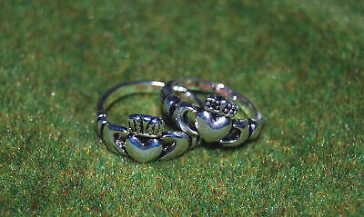 $14.95 • Buy Buffy Vampire Slayer & Angel Claddagh Ring Prop Replica Set! FACTORY X Leftover