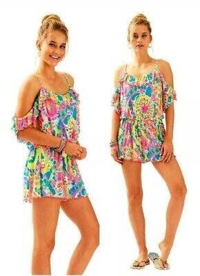$58 • Buy Lilly Pulitzer Come Out Of Your Shell Fenella Romper Size Medium $148