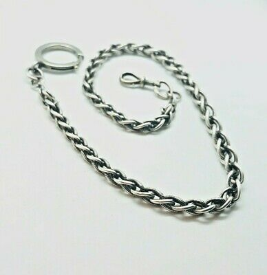 Antique Art Deco Silver Watch Chain / Necklace Rare Collectable Stylish 1920s • 8.50£