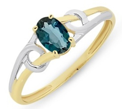 AU159 • Buy 9y/wg London Blue Topaz Ring  Rrp $229.00