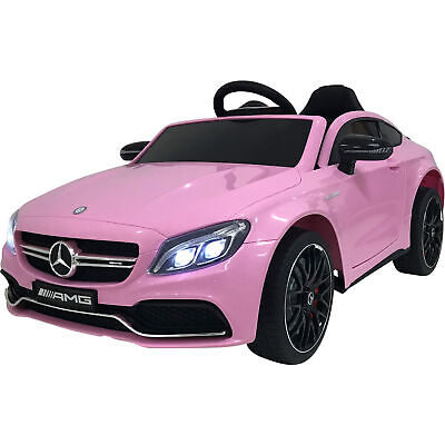 Licensed Mercedes-Benz C-Class 12V Children's Battery Ride On Car - Pink • 151.96£