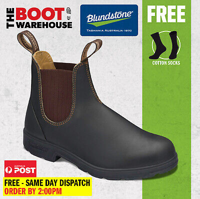 AU133.95 • Buy Blundstone 600 Max Comfort Work Boots. Brown Elastic Sided, Non Safety. NEW 500