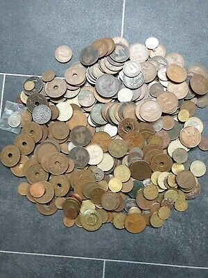2kg+ British Coins/foreign Lot In Box • 5£