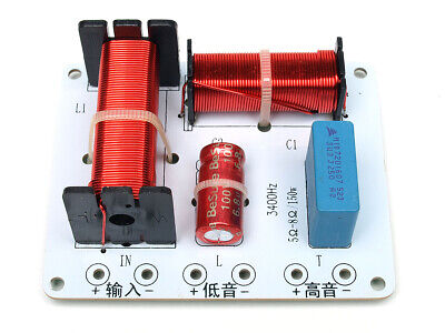 AU24.77 • Buy Pair Of 2 Way Crossover High Power 150 Watts RMS 5-8 Ohm 12 DB 3400HZ 2 PCS