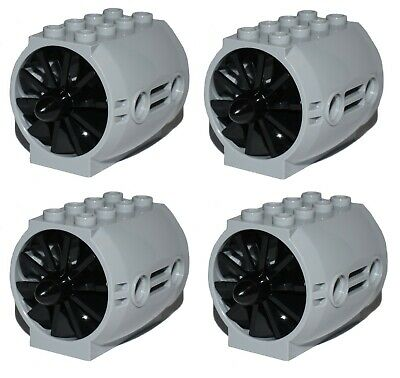 £5.97 • Buy LEGO Technic / City Jet Engine X4 With Black Blades Rotors For Aircraft Plane *