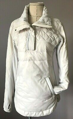 $ CDN80 • Buy Lululemon  What The Fluff Pullover  Sz 6 Small ~ Goose Down 1/2 Zip Polar Cream