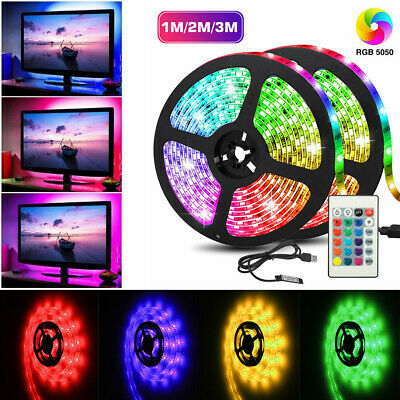 $9.99 • Buy USB LED Strip 5050 RGB Mood Light TV Backlight Multi Color With Remote Control
