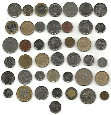 Foreign Coins X 43 New & Old • 1.49£