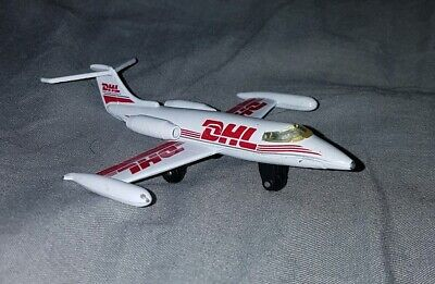 Matchbox Skybuster Lear Jet DHL Courier Toy Model Plane 100mm Long Toy Model • 0.99£