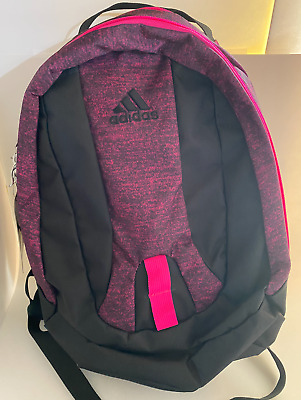 $33.40 • Buy Adidas Journal Large Capacity Backpack School Book Laptop Bag Black/Pink 5143903