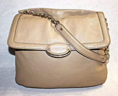 AU31 • Buy RRP$545 OROTON Biscuit Beige Leather Chain Strap Shoulder Bag/Handbag/Lirio Tote