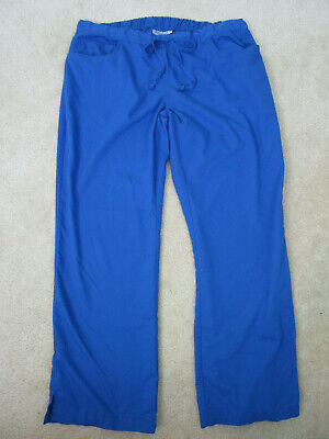 $9.95 • Buy GREY'S ANATOMY By Barco Women's Sz XL Blue Drawstring Scrub Pants EXC
