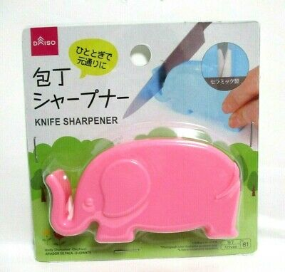 $5.49 • Buy JAPANESE  Ceramic Knife Sharpener Elephant Kitchen Tool DAISO JAPAN