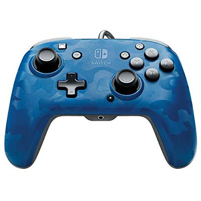 $27.95 • Buy PDP Nintendo Switch Faceoff Deluxe+ Audio Wired Controller - Blue Camo, - Switch
