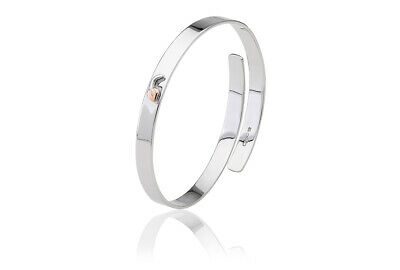 NEW Official Welsh Clogau Silver & Rose Gold Cariad Bach Bangle £59 OFF! • 140£