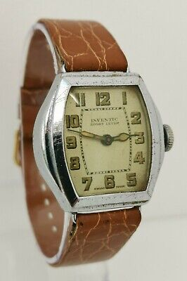 Vintage 1920s Inventic Sport Lever Art Deco Mechanical Gents Watch Swiss Made • 35£