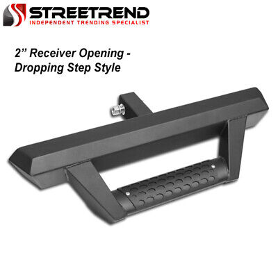 $75 • Buy Matte Blk Steel Rear Hitch Dropping Drop Step Bar Guard W/2  Trailer Receiver SD