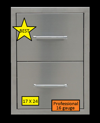 $225 • Buy BBQ 304 STAINLESS STEEL 16 Gauge DOUBLE DRAWER OUTDOOR KITCHEN  BEST QUALITY