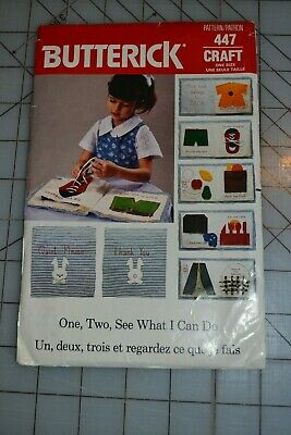 $9 • Buy Butterick 447 Sewing Pattern, Fabric Learning Book