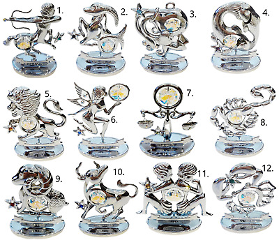 Crystocraft Zodiac Sign Crystal Ornament Star Sign Swarovski Elements Boxed  • 14.99£