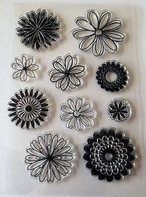 Clear Rubber Stamps – Flowers/Petals – FREE P&P - BNIP • 3.99£